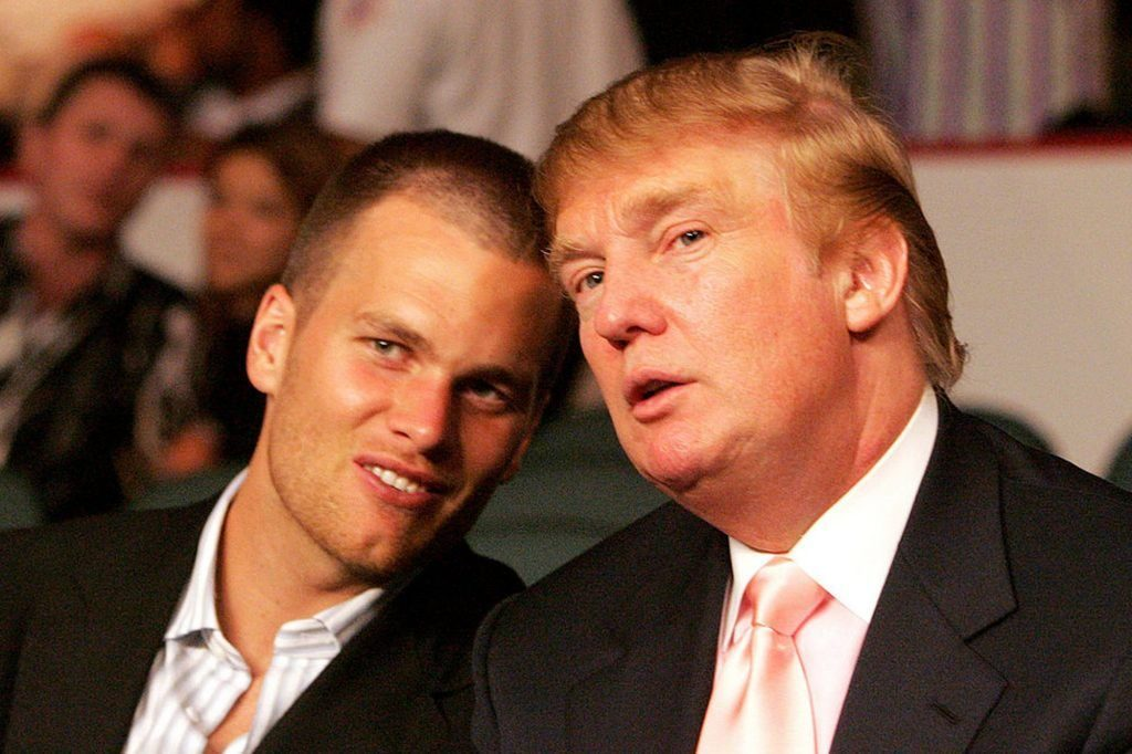 Tom Brady and Donald Trump look so happy together.