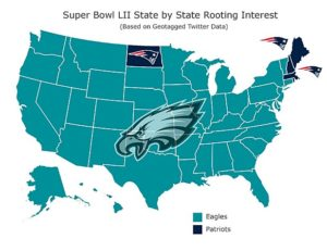 A map shows that nobody likes the Patriots.